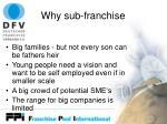 why sub franchise