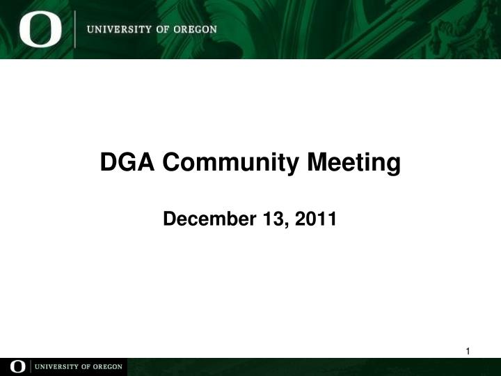 Dga community meeting december 13 2011