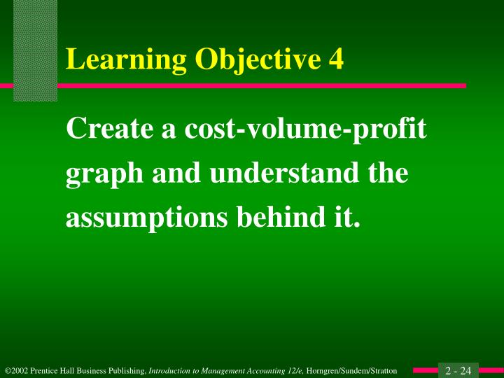 Create a cost-volume-profit