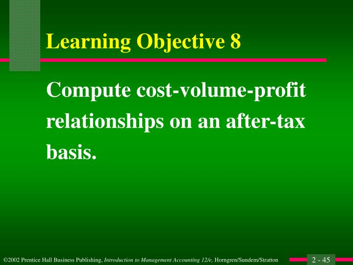 Compute cost-volume-profit