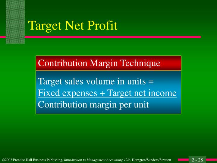 Target Net Profit