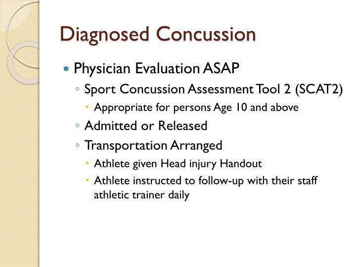 Diagnosed Concussion