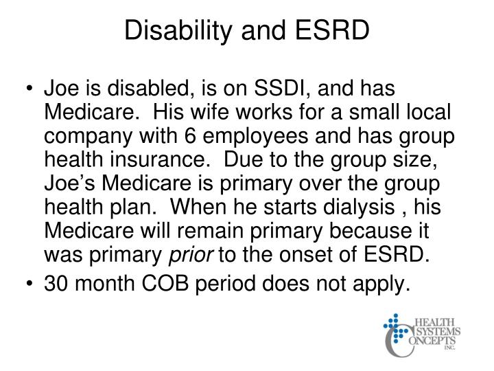 Disability and ESRD