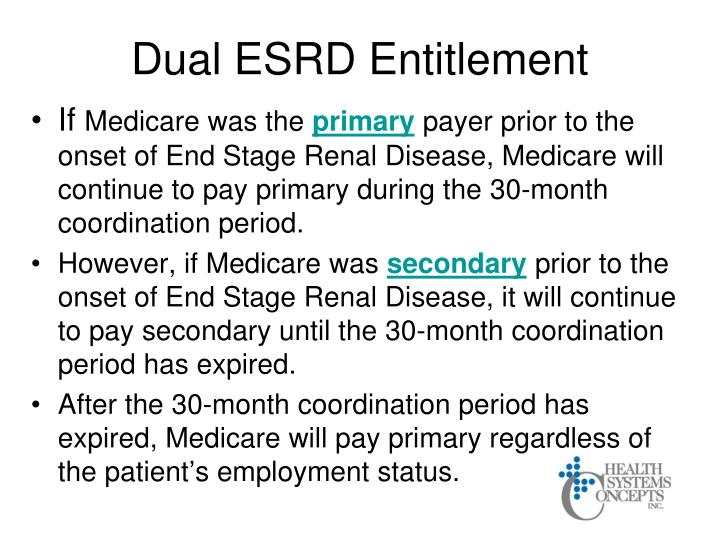 Dual ESRD Entitlement