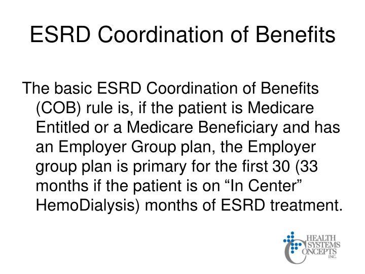 ESRD Coordination of Benefits
