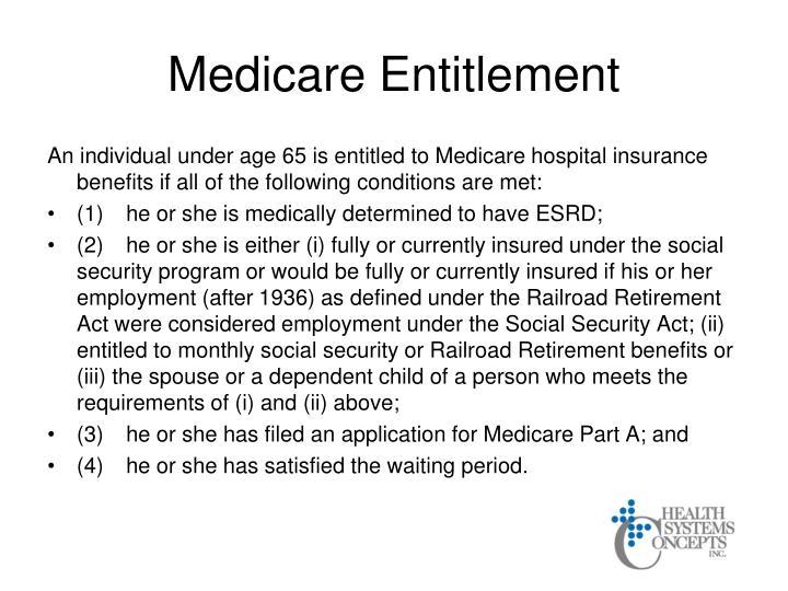 Medicare Entitlement
