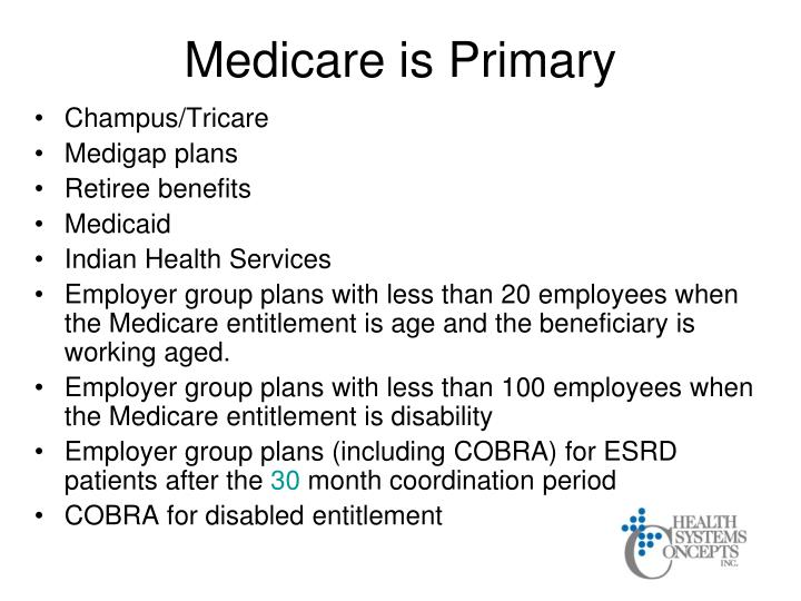 Medicare is Primary