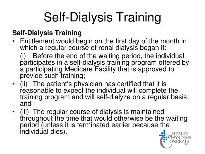 Self-Dialysis Training