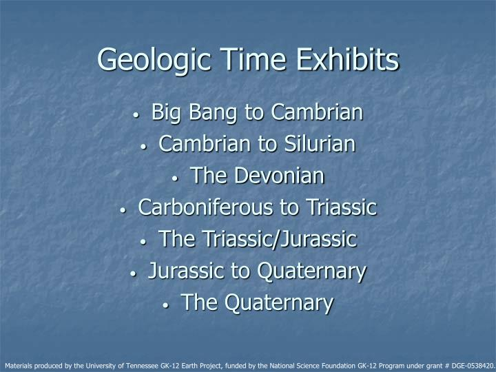 Geologic Time Exhibits