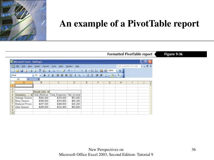 An example of a PivotTable report