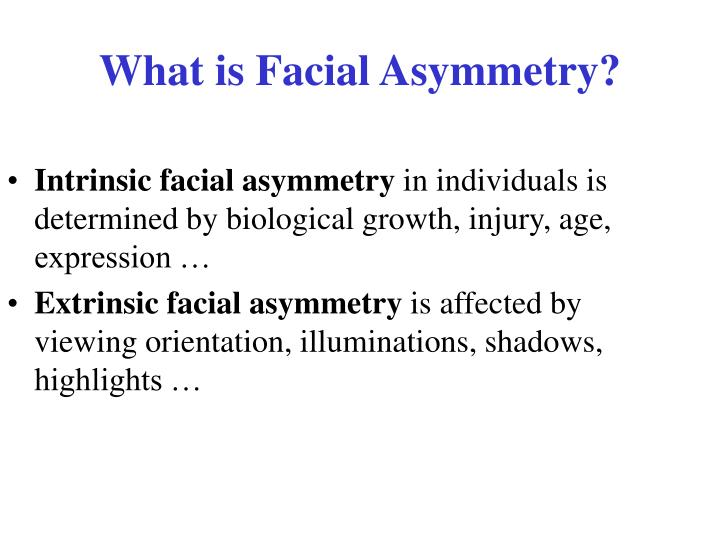 What is Facial Asymmetry?