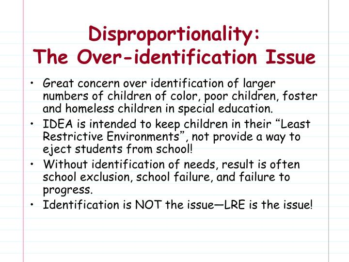 Disproportionality: