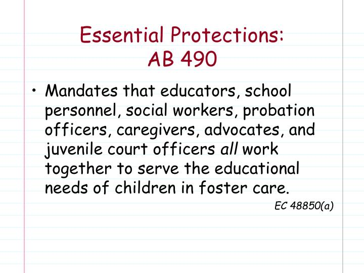 Essential Protections: