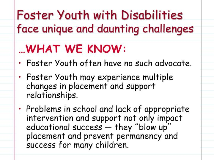 Foster Youth with Disabilities