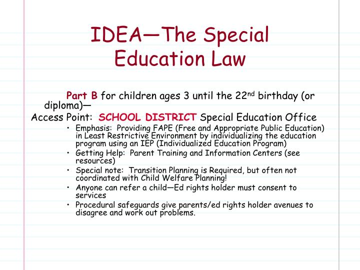 IDEA—The Special