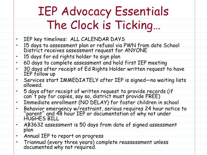 IEP Advocacy Essentials