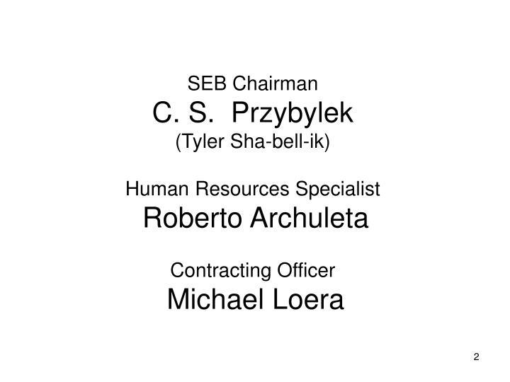 SEB Chairman