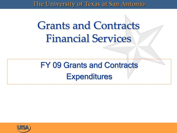 grants and contracts financial services n.