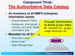 component three the authoritative data catalog2