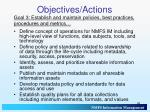 objectives actions