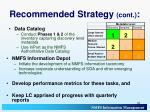 recommended strategy cont