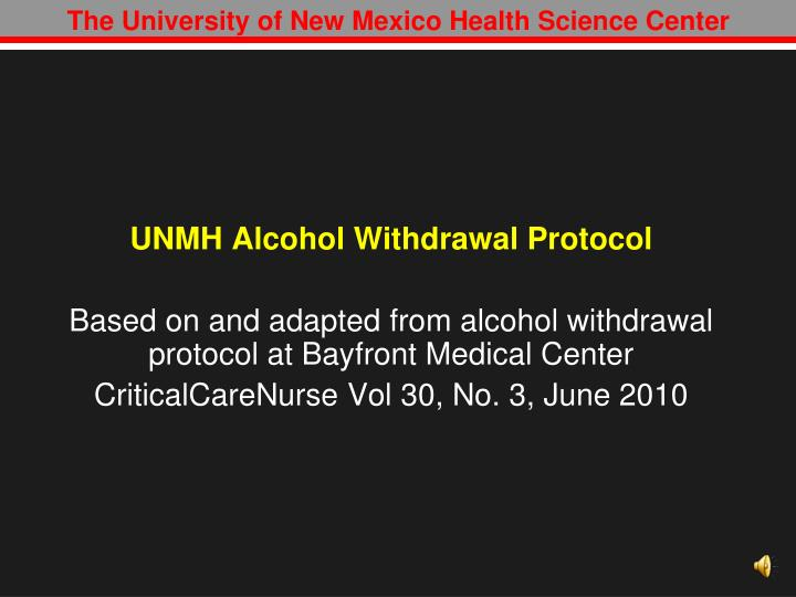 The University of New Mexico Health Science Center