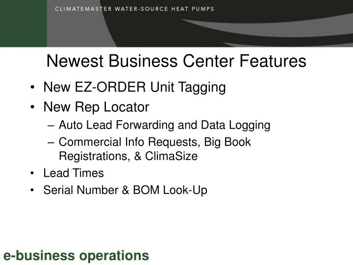 Newest Business Center Features