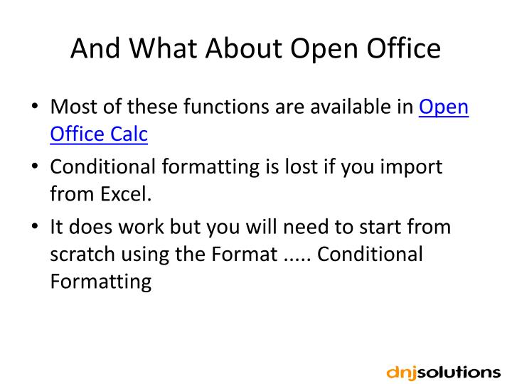 And What About Open Office