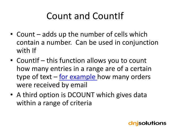 Count and
