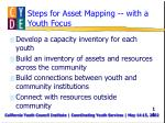 steps for asset mapping with a youth focus