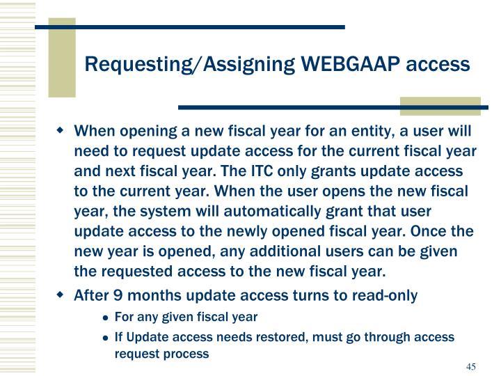 Requesting/Assigning WEBGAAP access