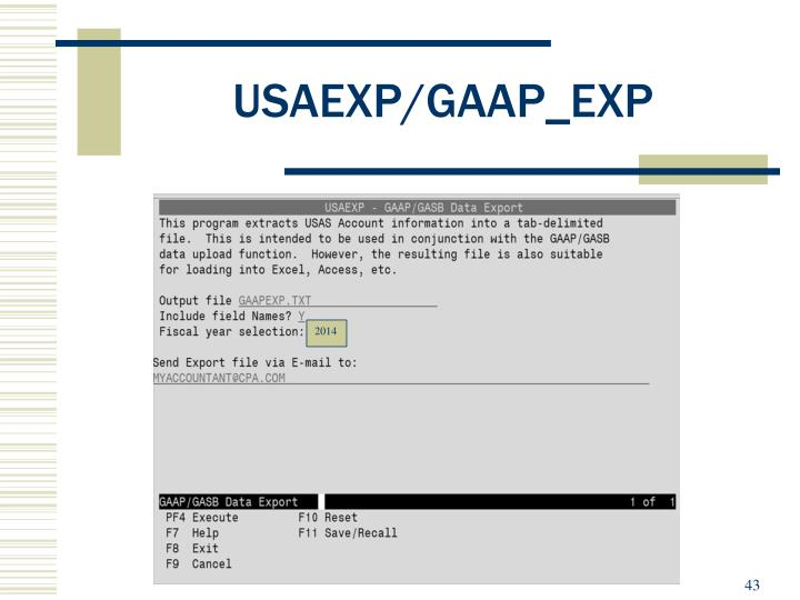 USAEXP/GAAP_EXP