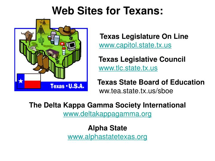 Web Sites for Texans: