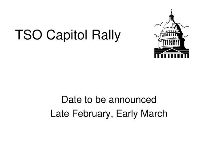 TSO Capitol Rally