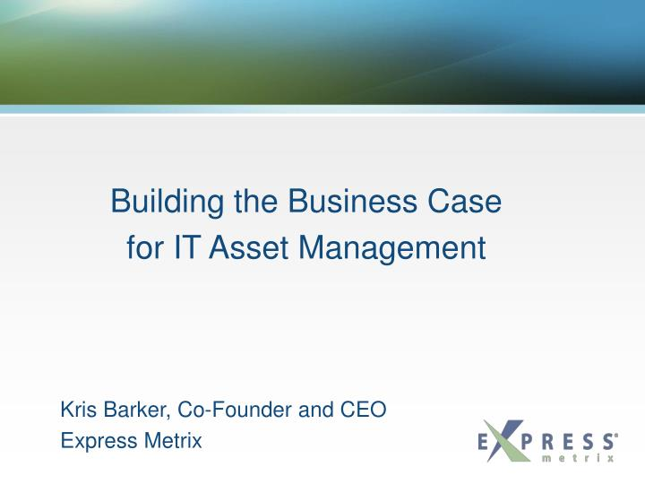 Kris barker co founder and ceo express metrix