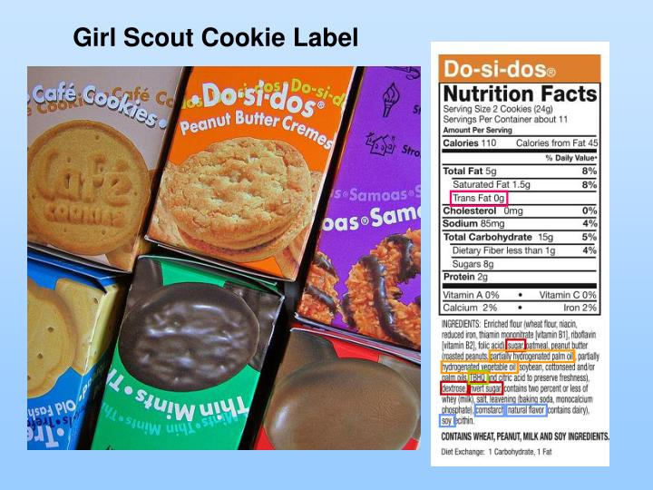 Girl Scout Cookie Label