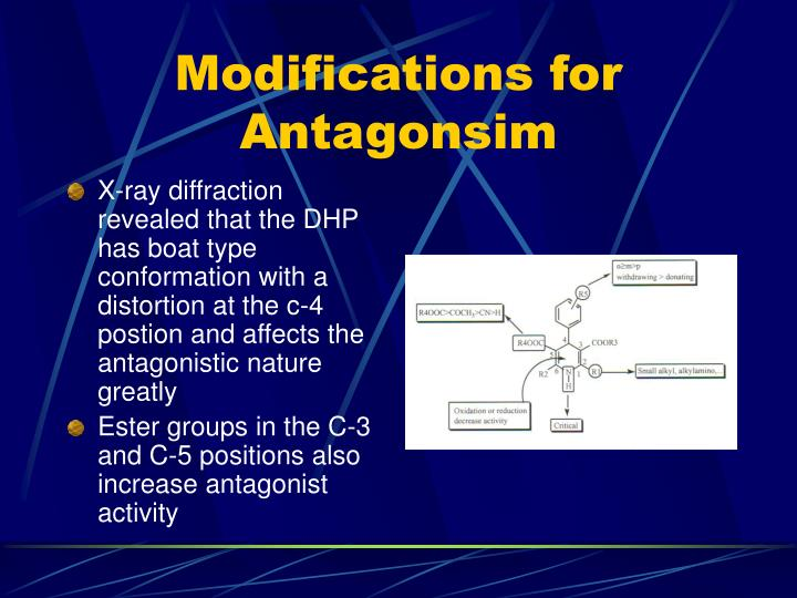 Modifications for Antagonsim