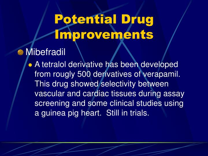 Potential Drug Improvements