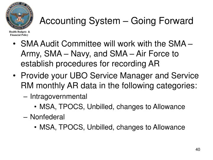 Accounting System – Going Forward