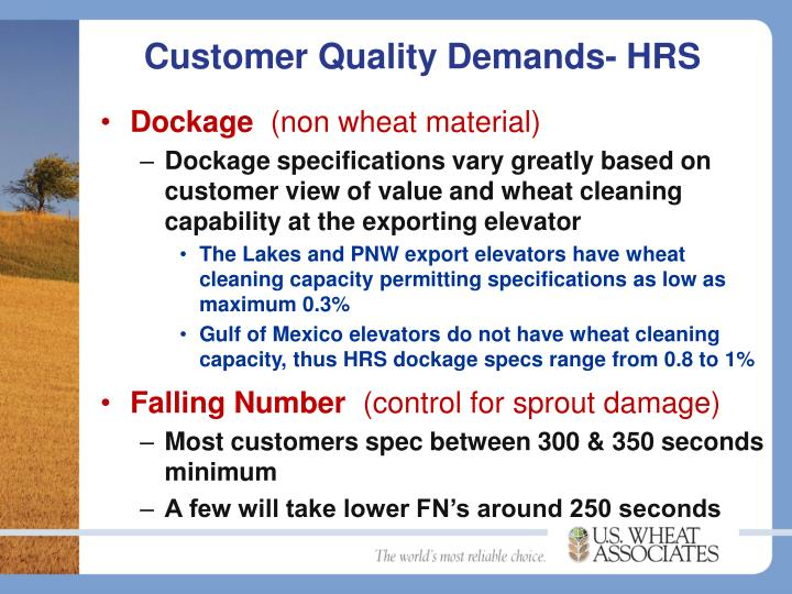 Customer Quality Demands- HRS