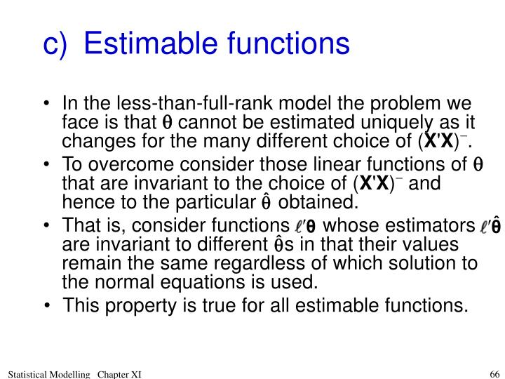 To overcome consider those linear functions of