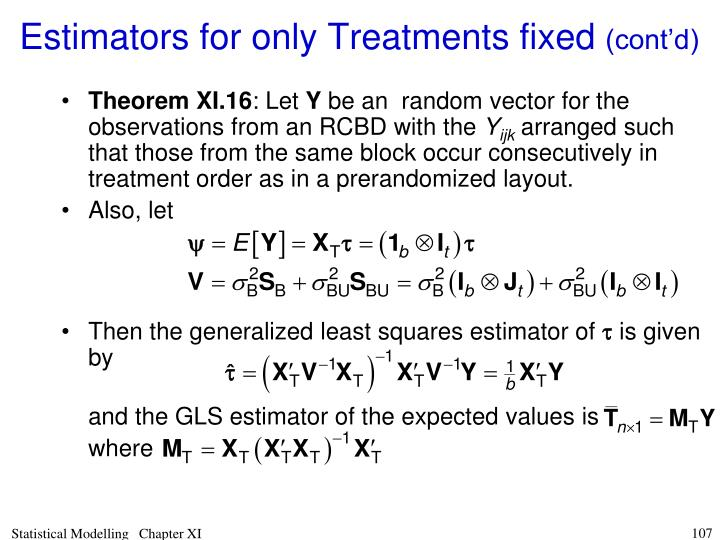 Then the generalized least squares estimator of