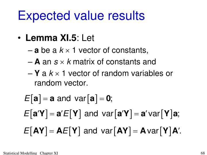 Expected value results