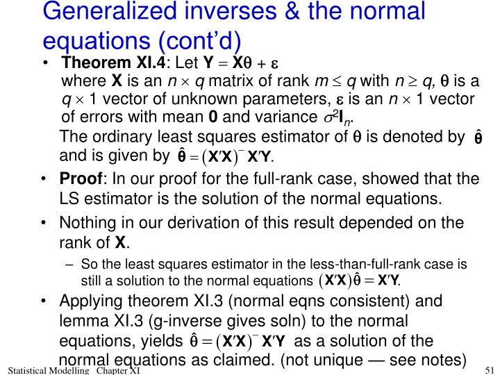 The ordinary least squares estimator of