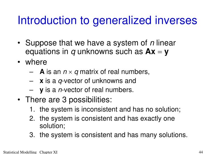 Introduction to generalized inverses