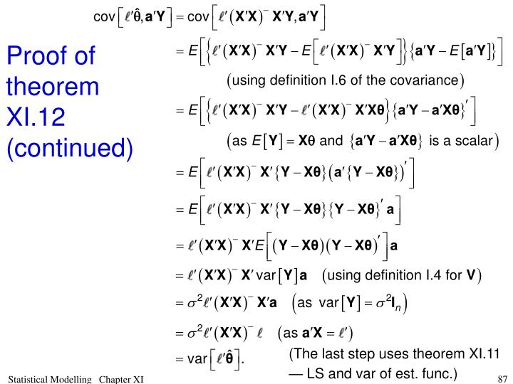 Proof of theorem XI.12 (continued)