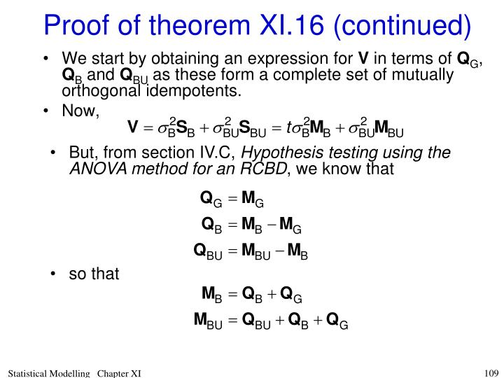 Proof of theorem XI.16 (continued)