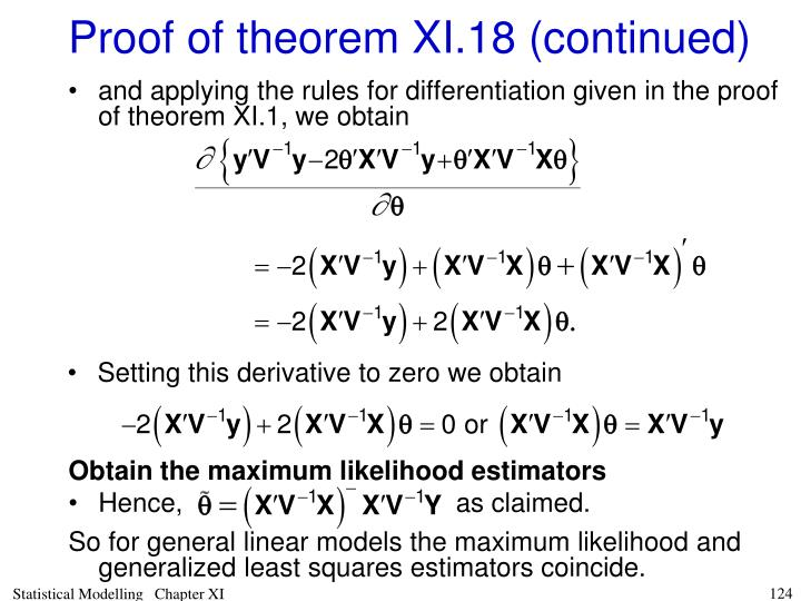 Obtain the maximum likelihood estimators