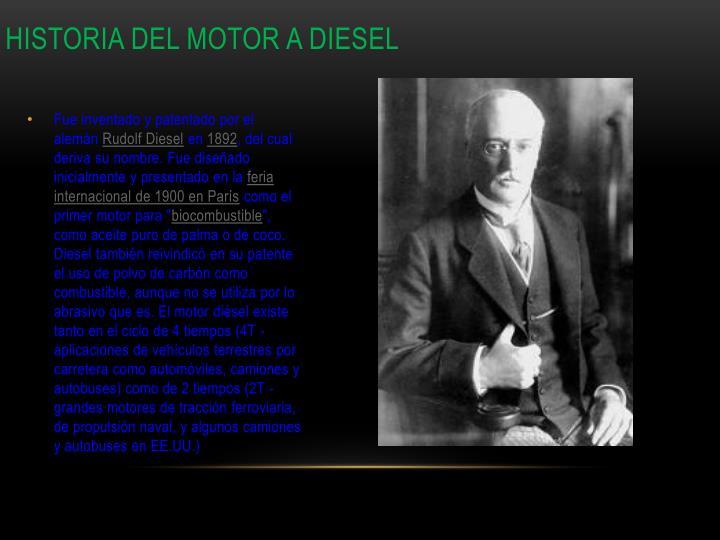 Historia del motor a diesel
