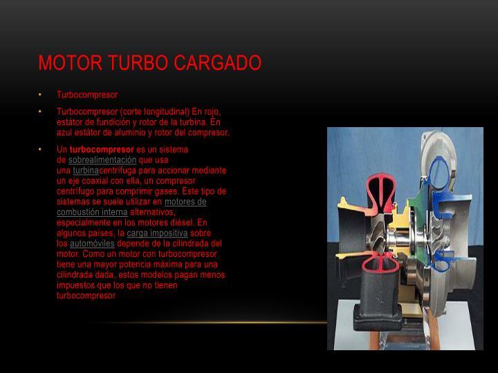 Motor turbo cargado